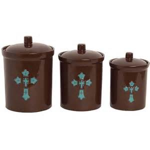 Turquoise Kitchen Canisters turquoise cross canister set