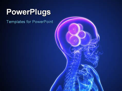 brain powerpoint templates powerpoint template a human system with gears instead of
