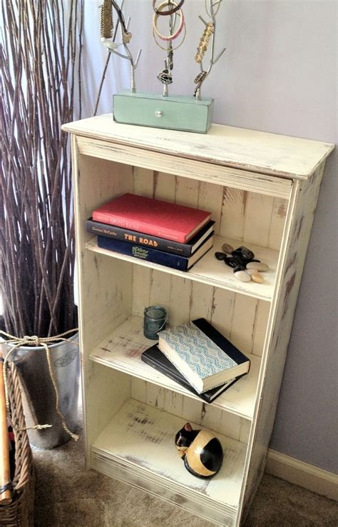 Distressed Small Vintage Pine Bookcase Vintage Distressed Bookshelves