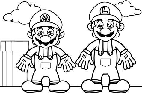 Mario Bros Et Luigi Coloriage L