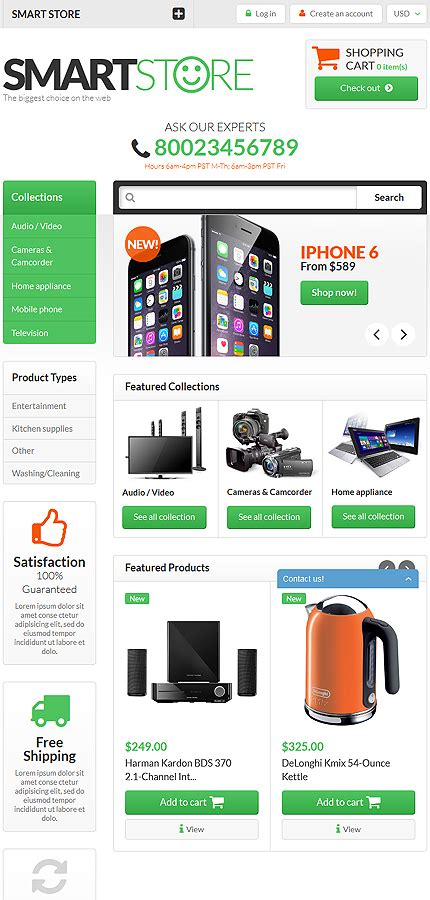 shopify themes electronics template 52724 ensegna themes