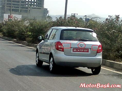 Xclusive Scoop: 2013 Skoda Fabia Caught With New Logo