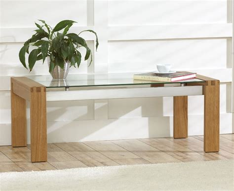 roma solid oak coffee table with glass top