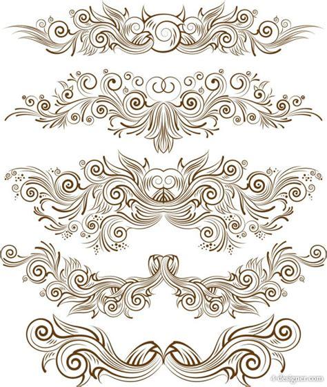 line pattern vector illustrator 4 designer exquisite pattern line art vector material