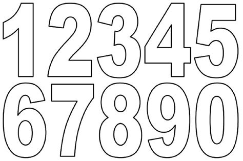 free number templates to print printing numbers 1 10 sheets loving printable