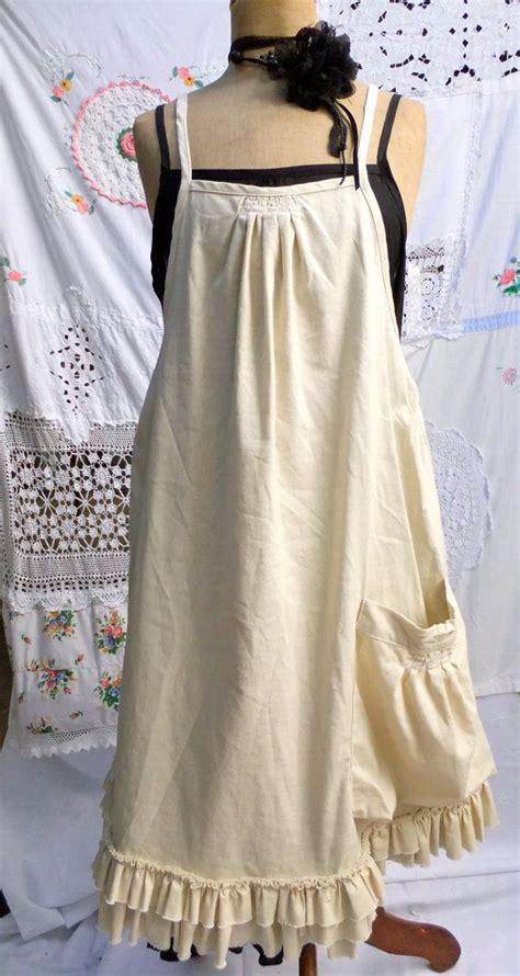 tutorial apron dress vintage style dress apron smock full length simple
