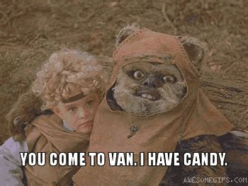 Ewoks Meme - ewok coaxing child into van awesomegifs