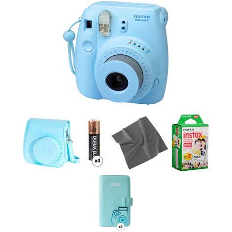 Fujifilm Instax Mini 8 Blue fujifilm instax mini 8 instant pro kit blue b h