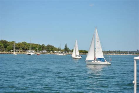 boats yamba sailing boats in the mouth of the clarence river picture