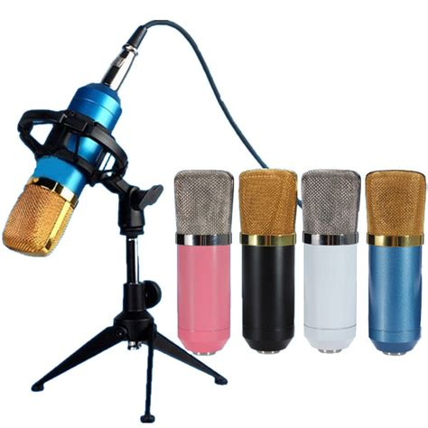 bm700 condenser microphone dynamic recording with shock mount alex nld
