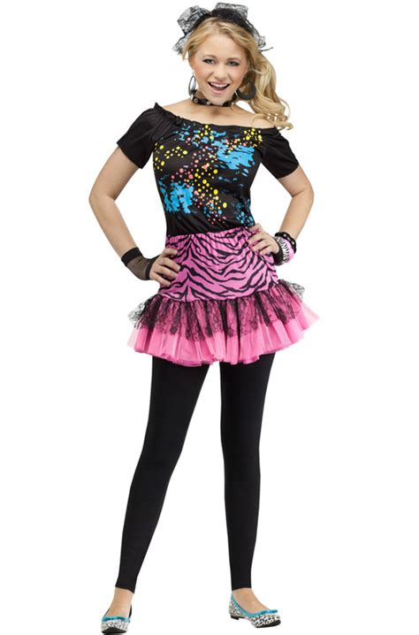 80s theme party costumes 80 s pop party teen costume purecostumes com