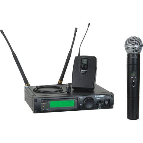 Mic Shure Ulx 4nkoper Alumenium Wireless shure ulx professional series wireless dual ulxp124 85 j1 b h