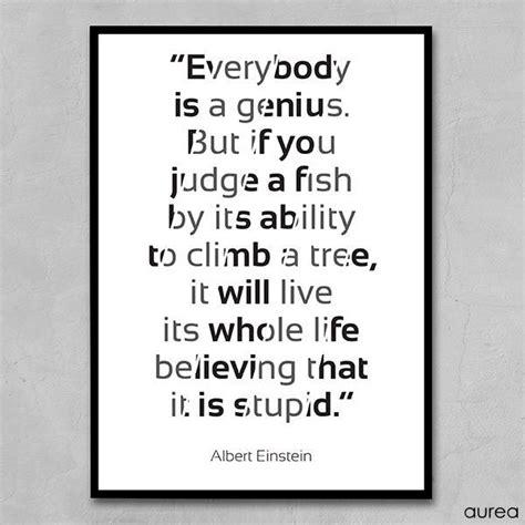Plakat Citat by Citat Plakat Everybody Is A Genius