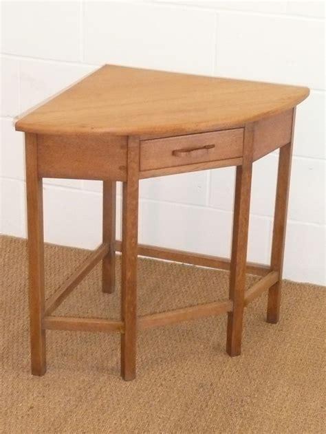 Corner Tables For Hallway Cotswold Style Oak Corner Side Table Antiques Atlas