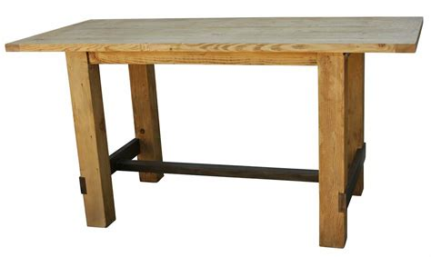 wood bar height table reclaimed wood bar height table mortise tenon