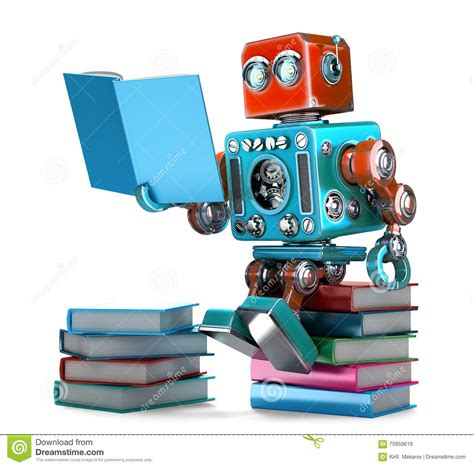 robot reading robot reading how to master your attention and focus your reading speed remember more learn faster and get more done in less time books retro robot reading books isolated 3d illustration