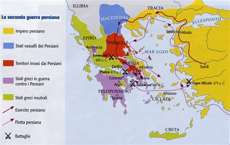 cartina guerre persiane la grecia tra oriente e occidente