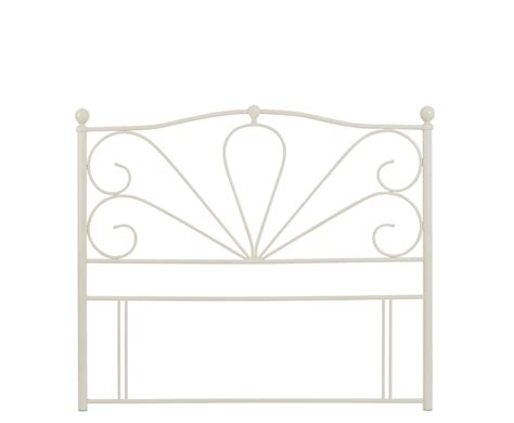 Chicago Off White Metal Headboard Single Double King Size