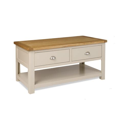 grey 2 drawer coffee table prd furniture
