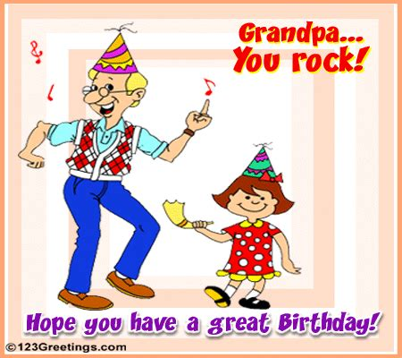 Birthday Greeting Cards For Grandfather Grandpa You Rock Free Grandparents Ecards Greeting Cards