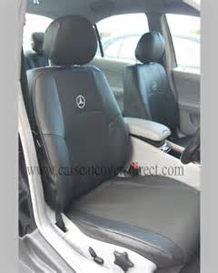 mercedes c class w203 black leatherette seat covers