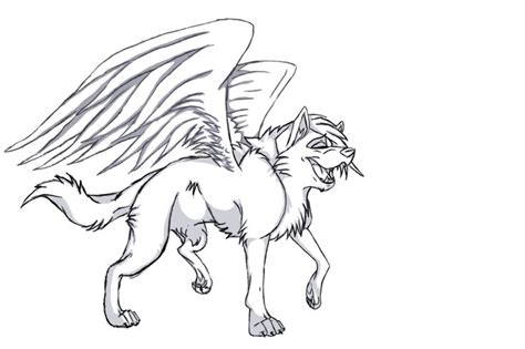 flying wolf coloring page pictures of winged animals wolves and cats free winged