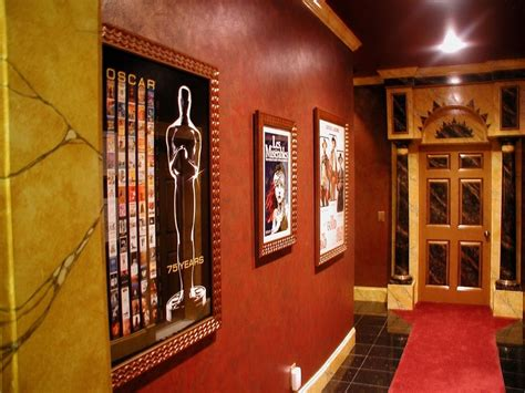 custom  art deco  palace home theater faux