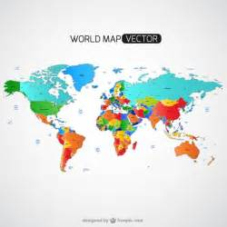 Colorful World Map by Colorful World Map Vector Free Download
