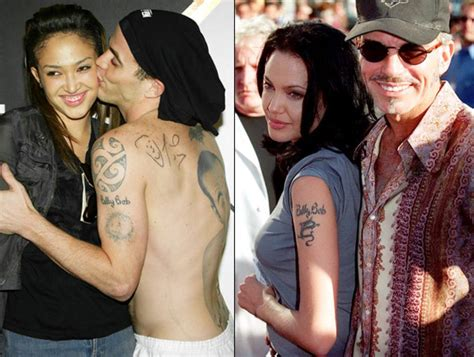 tattoo angelina jolie billy bob steve o photos worst celebrity tattoos ny daily news