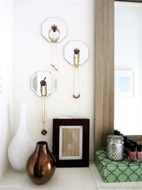 Diy Hangers - diy mirror jewelry wall hangers