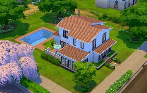 The Sims 4 Custom Paint Wall mod the sims simple house 4 by ra2rd sims 4 downloads