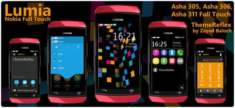 nokia asha all themes lumia theme for nokia asha 305 asha 306 asha 311