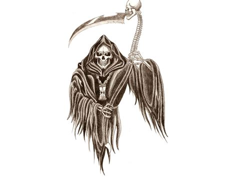 reaper tattoo design clipart best