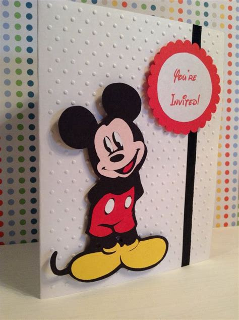 Mickey Mouse Handmade Invitations - handmade mickey mouse birthday invitations disney