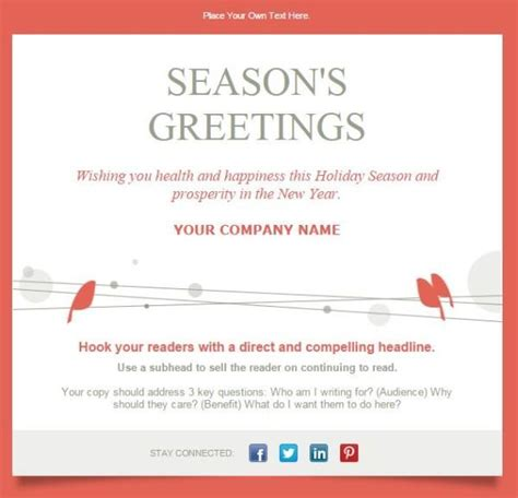 holiday email templates  small businesses nonprofits holiday emails email templates