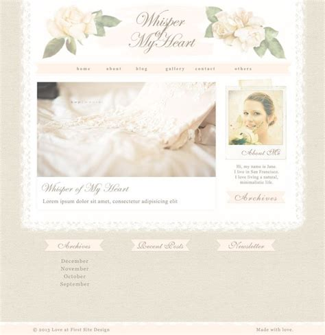 vintage shabby chic blog design web design rose linen ribbon pink wordpress theme