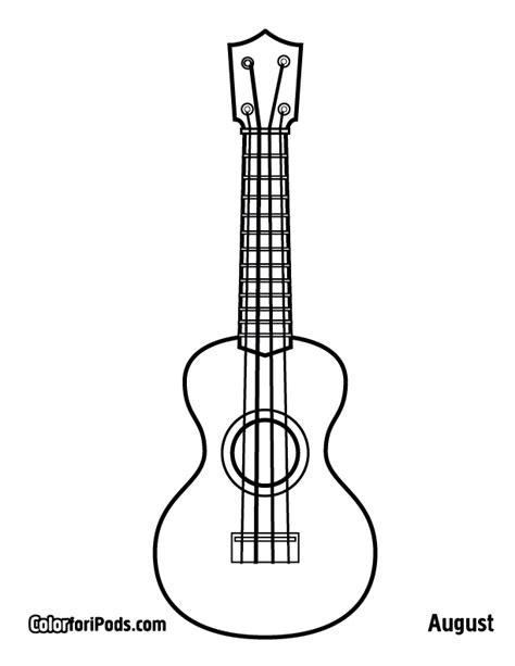 printable ukulele template free coloring pages of a ukulele