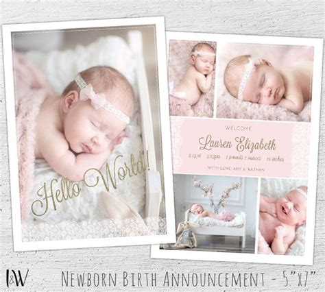 baby announcement templates newborn announcement template photoshop template new