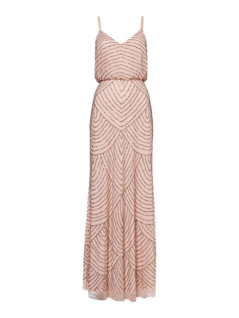 beaded deco dress papell deco beaded blouson dress in