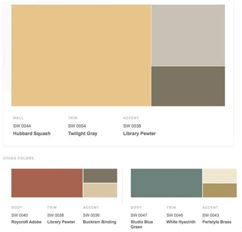 sherwin williams arts and crafts colors