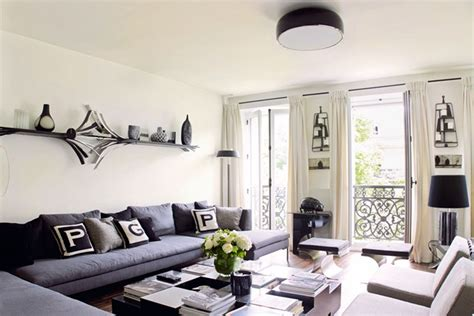 Monochrome Colour Scheme Living Room Design Ideas