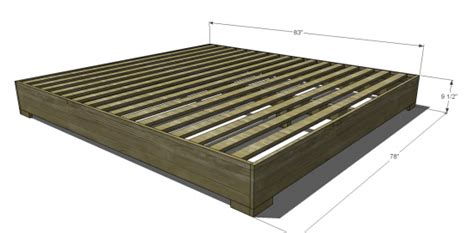 Measurements Of A King Size Bed Frame Useful King Size Bed Free Woodworking Plans On The