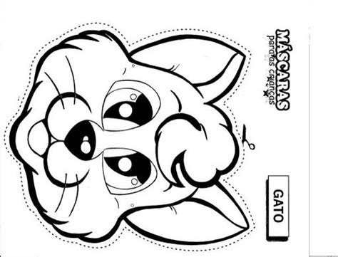 cat mask free coloring pages free world pics