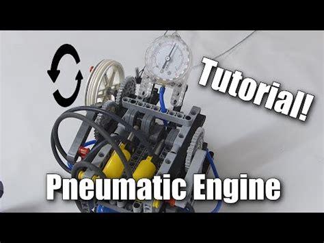 lego engine tutorial lego pneumatic engine tutorial youtube
