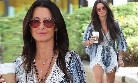 Richards Flashes by Hippie Chic Kyle Richards Flashes Legs In Lace Playsuit