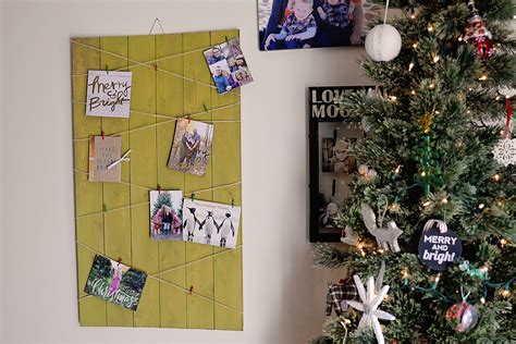 christmas card display diy christmas card display