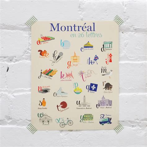 Gift Letter Canada Montreal In 26 Letters Gift Ideas Canada