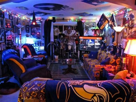 Steelers Bedroom Ideas now that s a man cave minnesota vikings pinterest