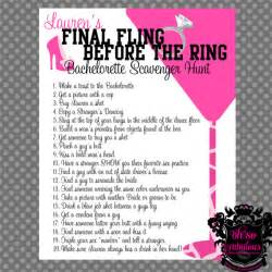 Bachelorette Scavenger Hunt Template by And Bachelorette Scavenger Hunt