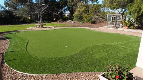 backyard artificial putting green quayscapes landscapes and lawns backyard synthetic putting green quay scapes